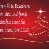 Frohe Weihnachten und alles Gute für 2020!